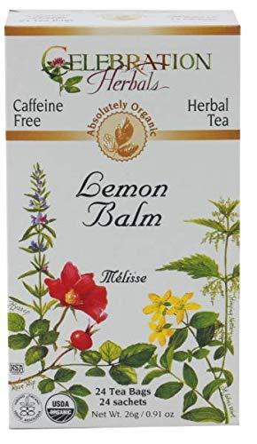 Celebration Herbals Lemon Balm Tea Bags, 24 Count (Pack of 3)