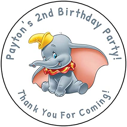 Personalised Disney Dumbo White Cake Party Bags