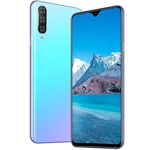 Unlocked Smartphone, Eight Core 6.3 inch Water Screen Four HD Camera 1+16GB Android 9.1 Drop Touch Screen WiFi Dual Sim Unlocked Cell Phones (Blue)
