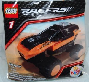 ( Lego ) Racers McDonalds Happy Meal 2009 Lego - 1 block toy 6X2 Turbo # ( parallel imports )
