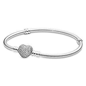 Pandora–Bracciale in Argento 925con zirconi Bianco 18cm 590727cz 18 7