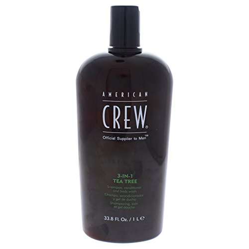 American Crew 3-In-1 Shampoo Conditioner & Bodywash, Tea Tree, 33.8 Ounce (Best American Crew Shampoo)