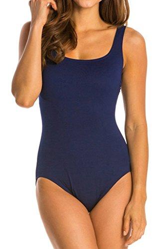 cokar Mujer Sport–Bañador deportivo–Traje Sport baño figurformend One Piece Swimsuit Marine