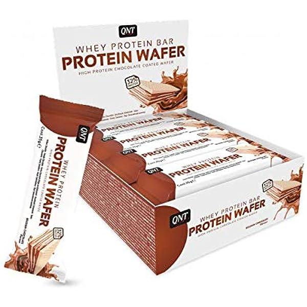 QNT Protein Wafer Bar, Sabor Belgian Chocolate - 12 Barras ...