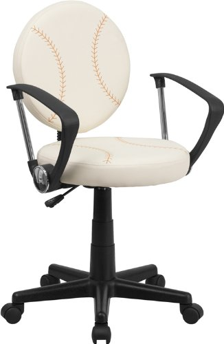 ComfortScape Baseball Swivel Task Chair with Arms by ComfortScape