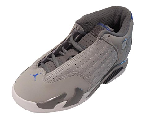 Nike Jordan 14 Retro BP Kids Sneakers Wolf Grey/Cool Grey/White/Sport Blue 312092-004 (SIZE: 13.5) by Jordan