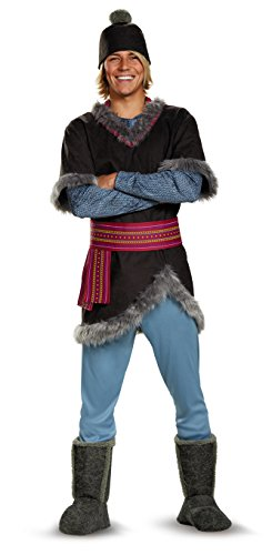 Mens Adult Halloween Costume (Disney Men's Plus Size Frozen Kristoff Costume, Multi, XXL)
