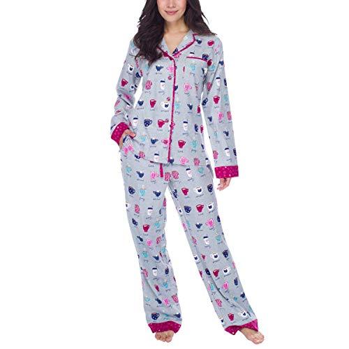 Munki Munki Ladies' Flannel PJ Set Snap Pant Cuff Variety NWT