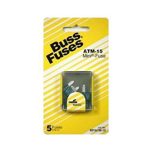 Bussman BP/ATM-15 RP 15 Amp Mini Fuses 5 Count ()