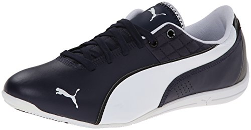 PUMA Men's Drift Cat 6 Motorsport Shoe,Peacoat/White/Black,7.5 M US