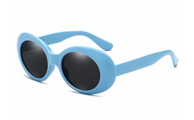 BOZEVON Retro Gafas de sol Ovaladas - UV400 de Protección Anteojos para Mujer y Hombre