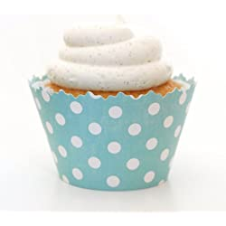 Simply Wrappers Polka Dots Cupcake Wrappers (Teal Blue)