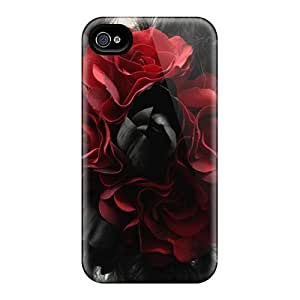 Series Skin Case Cover For Iphone 4/4s(black Magic Red)