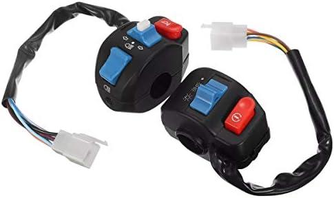JPLJJ 7/8インチオートバイスイッチ電気左右ホーンブレーキターンシングルヘッドライトハンドルバープッシュボタン