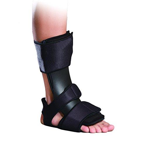 Orthomen Drop Foot Brace When Sleeping, Adjustable Dorsal Night Splint (DNS) for Plantar Fasciitis & Achilles Tendon Repair (S/M)
