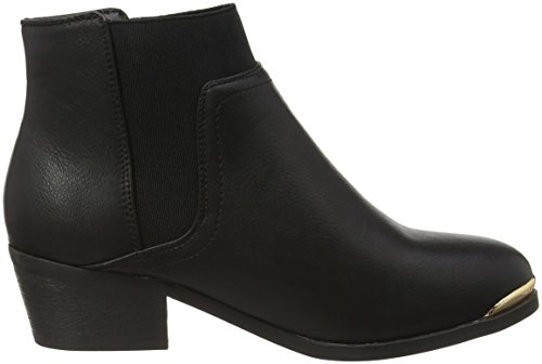 New Look Wide Foot Detal Donnie, Botines para Mujer Negro - Black (01/Black)