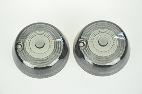 Bright2wheels Front Turn Signals for Cobra Light Bar Replacement Lens Smoke Lens