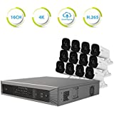 REVO America Ultra Plus Commercial Grade 16 CH 4K H.265 NVR, 4TB Surveillance Grade HDD, Remote Access, with 12x 4 Megapixel
