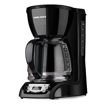 BLACK+DECKER CM1160B 12 Cup Programmable Coffee Maker, Digital Control Programmable Coffee Maker, Black/Stainless Steel by BLACK+DECKER
