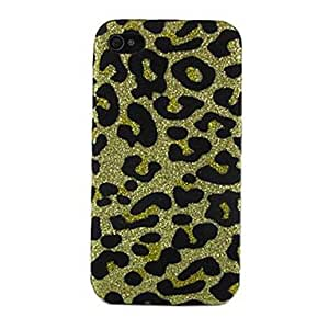 TOPQQ Leopard Print Design Pattern Hard Case for iPhone 4/4S (Assorted Colors)