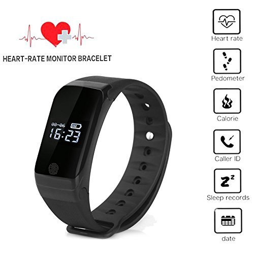 Fitness Tracker, Heart Rate Monitor Smart Watch IP67
