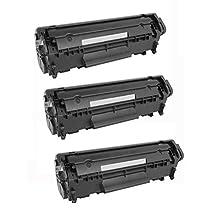 3 Pack - Compatible Black High Yield Toner Cartridge for Q2612A (12A) 2612A & CRG-104 (0263B001AA) Works With Following Printer Models: HP LaserJet 1010, 1012, 1018, 1020, 1022, 1022n, 1022nw, 3015, 3020, 3030, 3050, 3052, 3055, M1319, M1319f & Canon Fax L120 / FaxPhone L120, L190 / ImageClass D420, D480, MF4140, MF4150, MF4270, MF4270, MF4350d, MF4360, MF4370dn, MF4680, MF4690, MF4690 by Forlei® Products