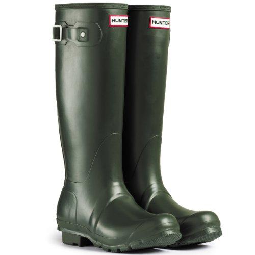 Womens Hunter Original Neoprene Winter Snow Festival Rain Wellington Boot Dark Olive ibiYvI63