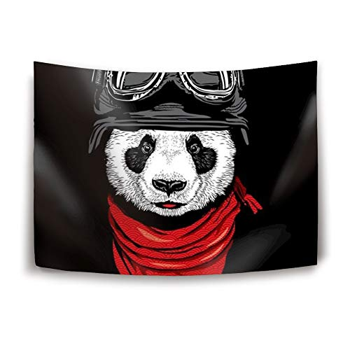 BABBY Tapestry Wall Hanging, Soldier Panda Wall Tapestry with Art Nature Home Decorations for Living Room Bedroom Dorm Decor in 51x60 Inches -