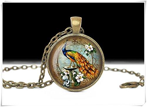 Elf House Peacock Bird Jewelry,Bird Pendant,art Bird Pendant,Charm Peacock Necklace,pure handmade