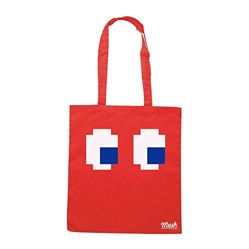 Borsa Pac Man Eyes - Rossa - Games by Mush Dress Your Style