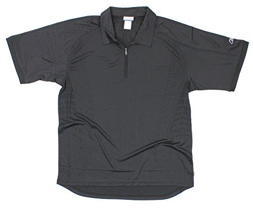 Reebok Men's Athletic Polo Quarter Zip Shirt, Black