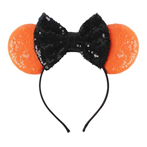 YanJie Halloween Sequin Mouse Ears - Glitter Hair