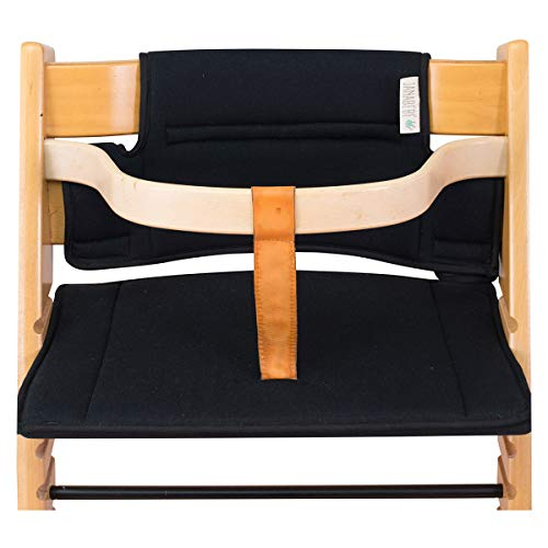 Janabebé Cushion for high Chair Stokke Tripp Trapp (Black Series) (Stokke High Chair Cushion)