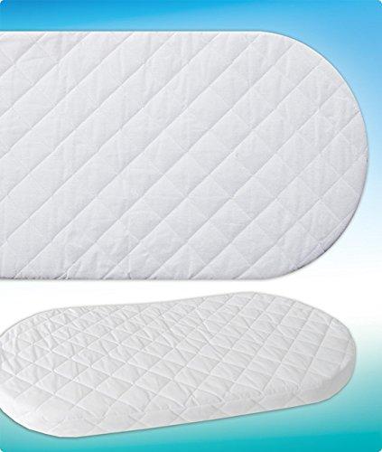 WALDIN Foam Mattress for Baby Wicker Cradle Moses Basket