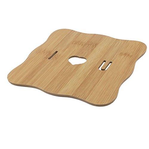 eDealMax creux de maison en bois design résistant à la chaleur Pot Coupe Mat Porte-Coussin
