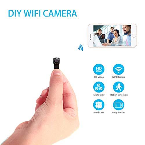 Cámara Mini cámara oculta espía 720p Wifi inalámbrico niñera Cam interior/al aire última intervensión portátil...