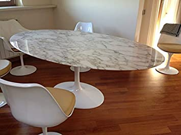 Tavoli Design 169x111 Table Tulip Eero Saarinen Ovale Marbre