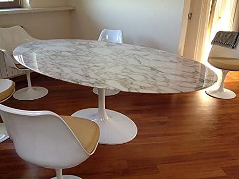 Tavolo Saarinen Marmo : Tavolo tulip eero saarinen ovale marmo calacatta oro base