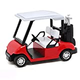 dezirZJjx Pull Back Car Toy, 1/20 Scale Alloy Golf Cart Diecast Pull Back