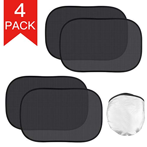 (Kribin 4 Pack Car Window Shade, Car Sun Shade for Baby - 21