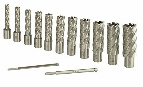 "Steel Dragon Tools 13pc. High Speed Steel HSS Annular Cutter Kit 2"" Depth and 7/16 in. to 1-1/16 in."