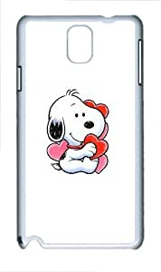 Snoopy In Love Polycarbonate Hard Case Cover for Samsung Galaxy Note III/ Note 3 / N9000 White