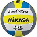Bola de Vôlei de Praia Mikasa VXS-BMD - Cinza/Amarelo/Azul/Branco