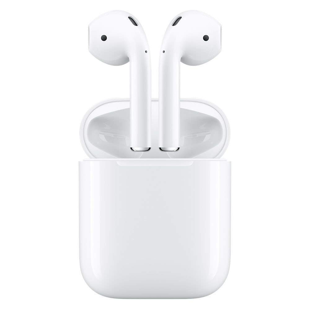 Apple MMEF2AM/A AirPods Wireless Bluetooth Headset for iPhones with iOS 10 or Later White - (Renewed) by Apple