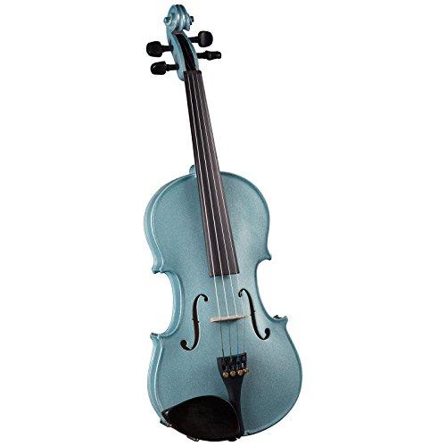 Cremona SV-75 Premier Novice Violin Outfit - Sparkling Light Blue - 4/4 Size by Cremona