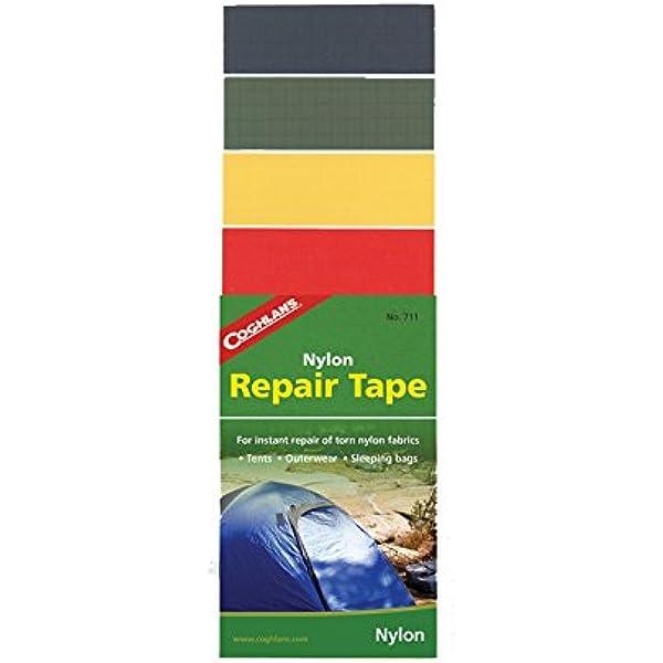 2-Pack Coghlan/'s Nylon Repair Tape Rip-Stop Adhesive Kit Camping Tent Jacket