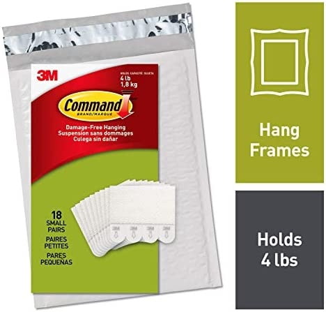 Command Picture Hanging Strips Decorate Damage-Free 18 Pairs (36 Strips) Ships In Own Container (PH202-18NA)White