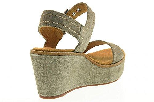 CLARKS sandalias de cuña zapatos 26124071 AISLEY ORQUÍDEA GRIS GRIS