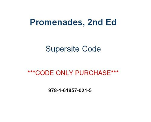 Promenades 2nd Ed Supersite Code ***Supersite Code Only***