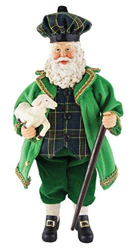 Santa's Workshop 5604 Irish Santa with Lamb Figurine, 12